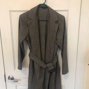 Uniqlo/GU grey coat with belt size M